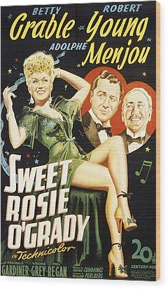 Sweet Rosie Ogrady, Betty Grable Wood Print by Everett