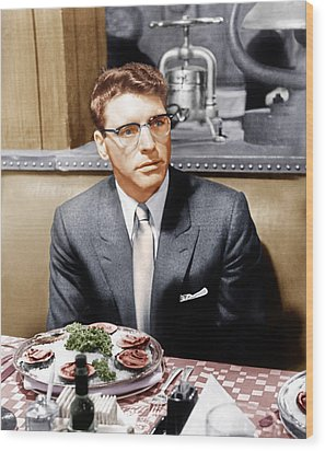 Sweet Smell Of Success, Burt Lancaster Wood Print by Everett