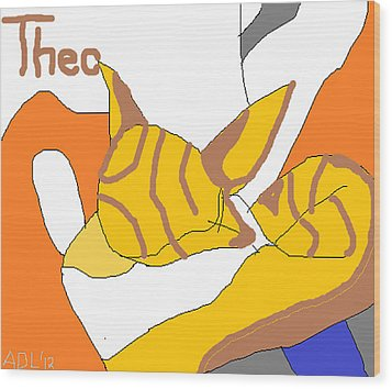 Wood Print featuring the painting Sweet Theo by Anita Dale Livaditis