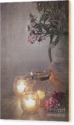 Sweet Williams Faded. Wood Print by Jane Rix