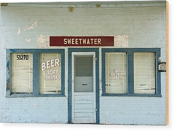 Sweetwater Store Wood Print by Jeff Lowe