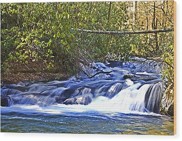 Wood Print featuring the photograph Swiftly Flowing River by Susan Leggett