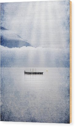 Swim Platform Wood Print by Joana Kruse