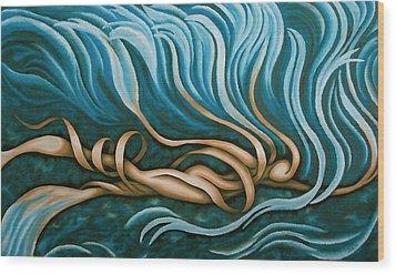 Swimmy Lady Wood Print