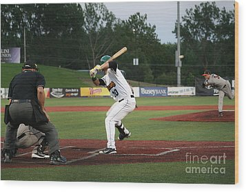 Swing Batter Wood Print by Roger Look