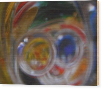 Wood Print featuring the photograph Swirling Colors by Lynnette Johns