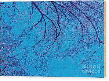 Swirling Spring Winds Wood Print