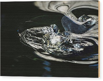 Swirling Water Wood Print by Don Mann