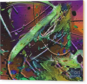 Swirls Number 2 Wood Print by Doris Wood