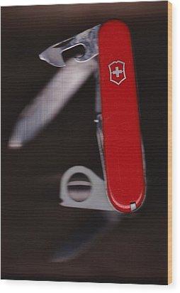Swiss Army Knife Wood Print