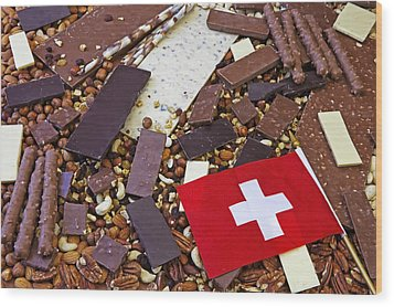 Swiss Chocolate Wood Print by Joana Kruse