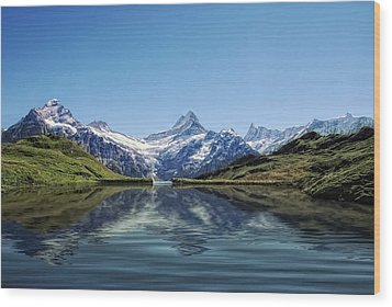 Swiss Primary Rocks Wood Print by Joachim G Pinkawa