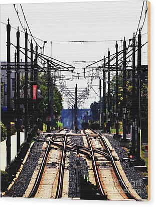 Switch Tracks Wood Print