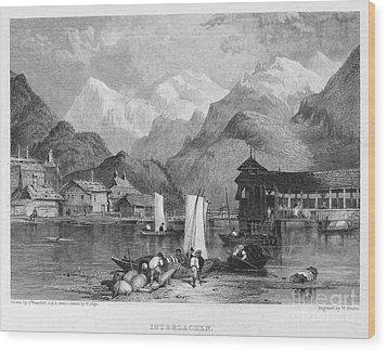 Switzerland: Interlachen Wood Print by Granger