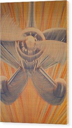 Swoop Wood Print by Thomas Maynard