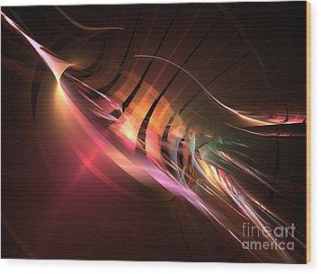 Swordfish Wood Print by Kim Sy Ok