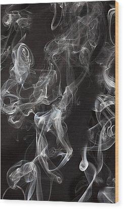 Swriling Smoke  Wood Print by Garry Gay