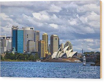 Sydney Harbour One Wood Print by Rick Bragan