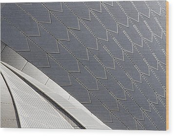 Sydney Opera House Roof Wood Print by Martin Cameron