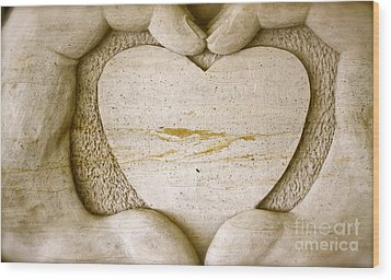 Symbol Of Love Wood Print by Ted Wheaton