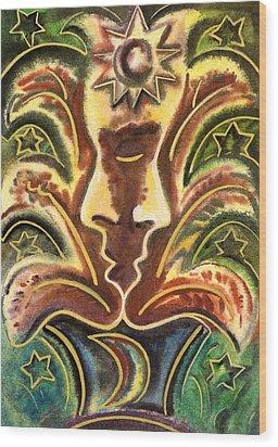 Symbol Of Love Wood Print by Vasile Movileanu