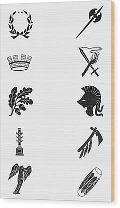 Symbols: Victory And War Wood Print by Granger