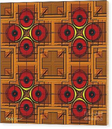 Symmetrica 188 Wood Print by Nedunseralathan R