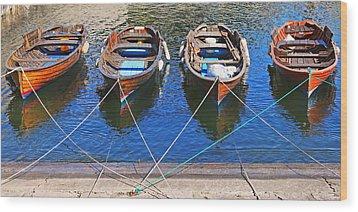 Symmetry Wood Print by Joana Kruse