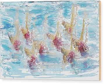 Sync Or Swim Wood Print by Russell Pierce