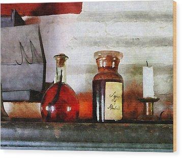 Syrup Of Rhubarb Wood Print by Susan Savad
