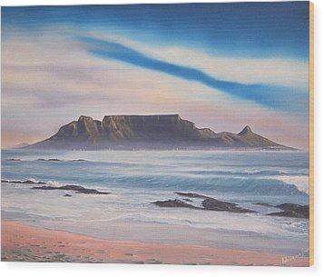 Table Mountain 1 Wood Print by Adrian Van Staden
