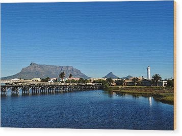 Wood Print featuring the photograph Table Mountain by Werner Lehmann