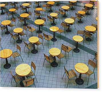 Tables And Chairs II Wood Print by Steven Ainsworth