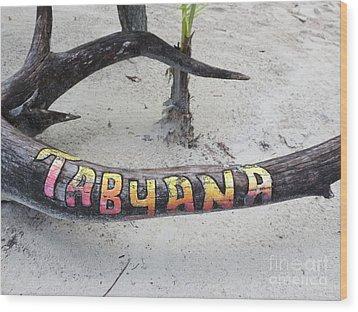 Tabyana Beach Wood Print by Vijay Sharon Govender