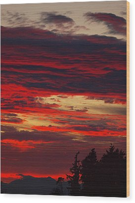 Tacoma Sunset 3 Wood Print by Jim Moore