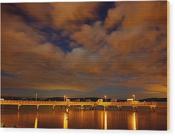 Tacoma Waterfront Wood Print by Robby Green