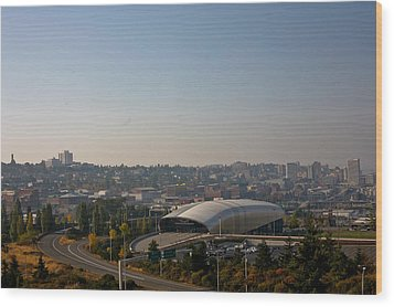 Tacoma's Grand Entrance Wood Print by Robby Green