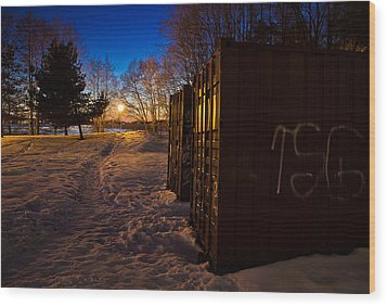 Wood Print featuring the photograph Tagged Containers by Matti Ollikainen