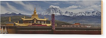 Tagong Si Monastery Buddhist Temple Wood Print by Phil Borges