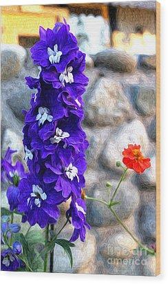Tahoe City Flower Wood Print by Anne Raczkowski