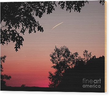 Wood Print featuring the photograph Tails Of Light At Sunset by Christian Mattison