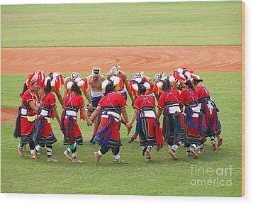 Taiwan Native Dance Performance Wood Print by Yali Shi