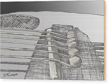 Take It To The Bridge Wood Print by David Fossaceca