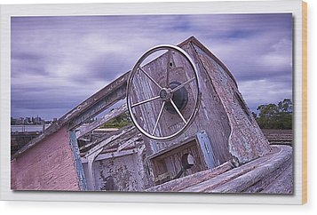 Wood Print featuring the digital art Take The Wheel by Kevin Chippindall