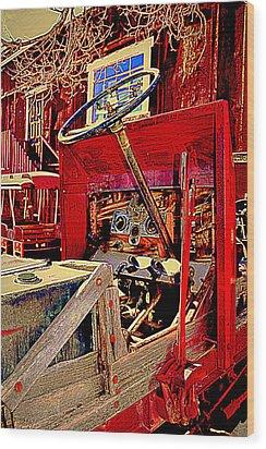 Take The Wheel Please Wood Print