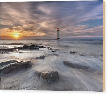 Talacre Lighthouse  Wood Print by Beverly Cash