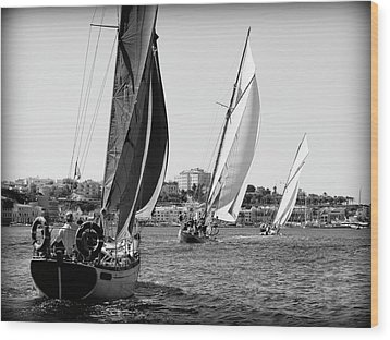 Wood Print featuring the photograph Tall Ship Races 2 by Pedro Cardona