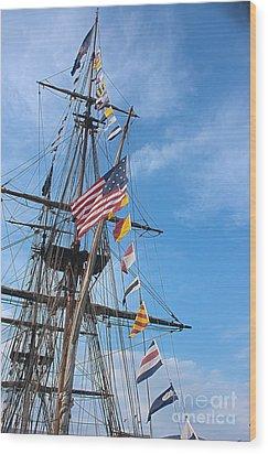 Tall Ships Banners Wood Print by David Bearden
