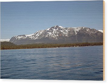 Tallac From The Lake Wood Print by LeeAnn McLaneGoetz McLaneGoetzStudioLLCcom