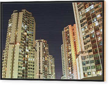 Taman Rasuna Apartments Wood Print by Simonlong